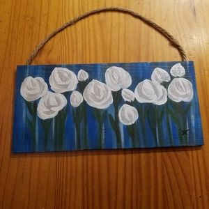 Other - Rustic Original Floral Sign